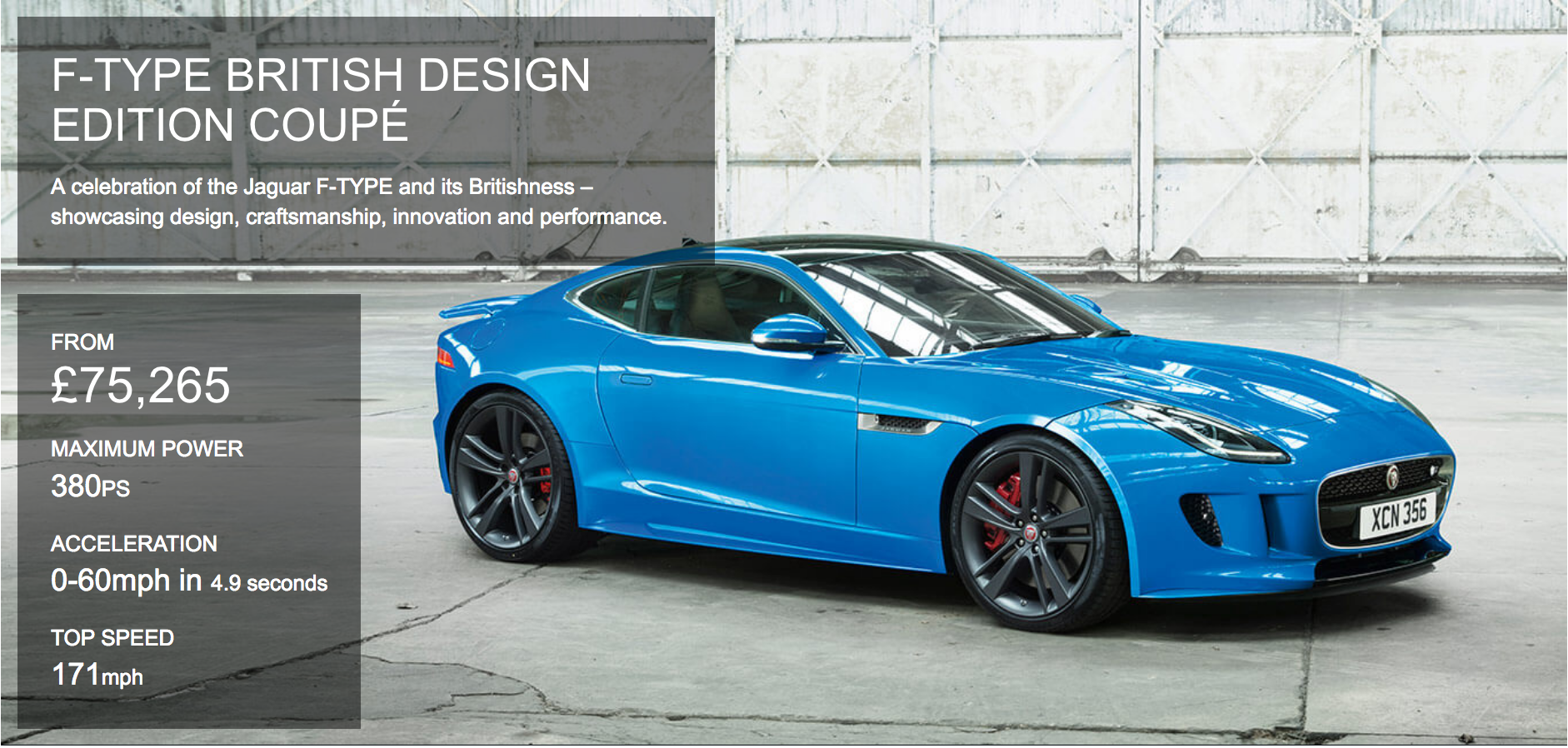f-type british design edition coupe   farnell jaguar