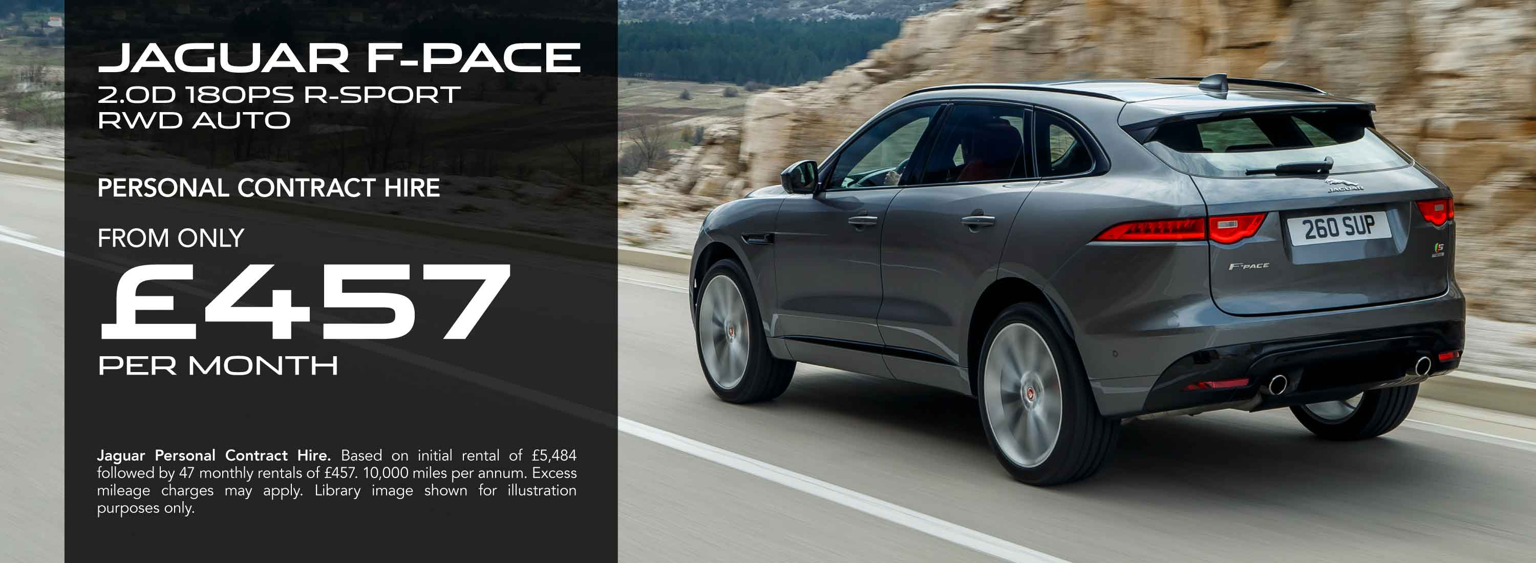 Jaguar F-Pace Personal Contract Hire Offer