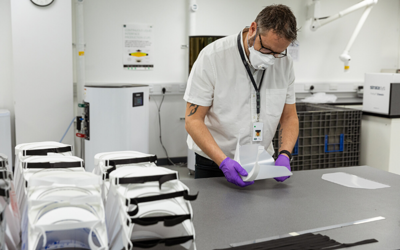 Jaguar Land Rover Begins Production of Protective Visors for NHS Staff