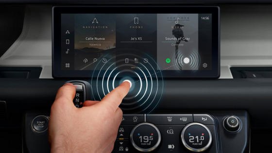 Cambridge and Jaguar Land Rover Are Developing Touchless Touchscreens