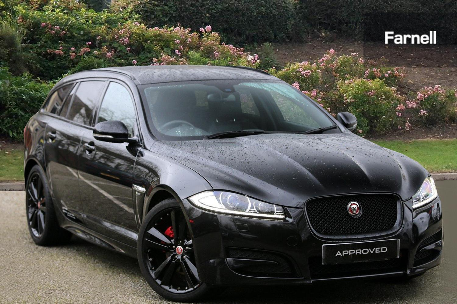 used jaguar xf 2 2d r sport black 5dr auto diesel estate. Black Bedroom Furniture Sets. Home Design Ideas